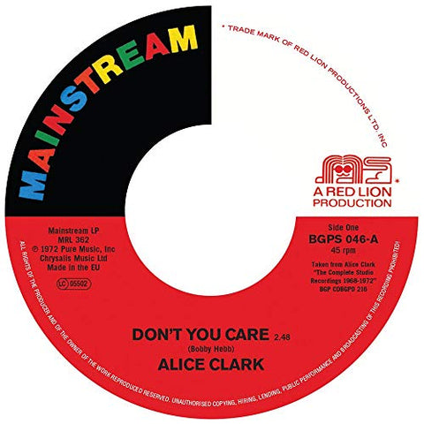Alice Clark Don't You Care / Never Did I Stop Loving You LP