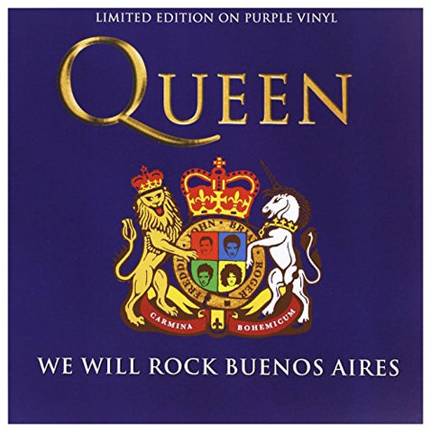 Queen We Will Rock Buenos Aires - Purple Vinyl LP