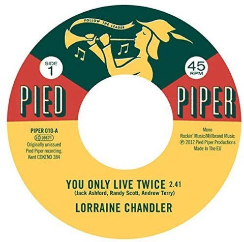 Lorraine Chandler You Only Live Twice / Hold To My Baby LP