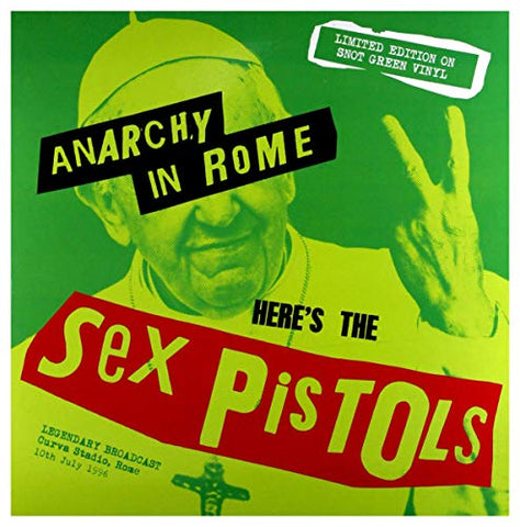 Sex Pistols Anarchy in Rome (Snot Green Vinyl) LP