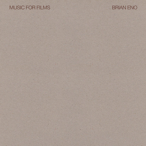 Brian Eno Music For Films LP 602567750710 Worldwide Shipping