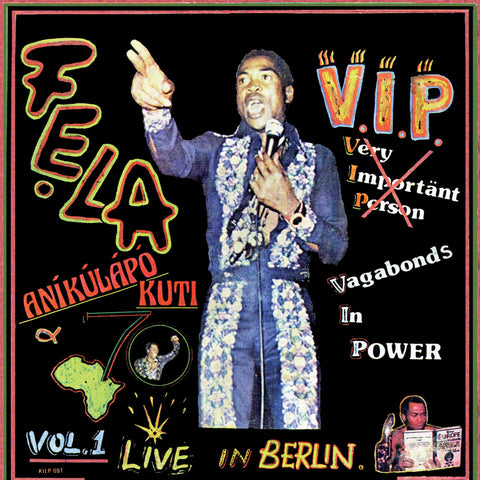 Fela Kuti V.I.P. LP 0720841204718 Worldwide Shipping