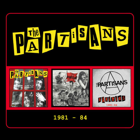 The Partisans 1981-84 3CD 5013929607101 Worldwide Shipping