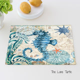 Handmade Linen Table Mats With Beautiful Marine Creature Designs.