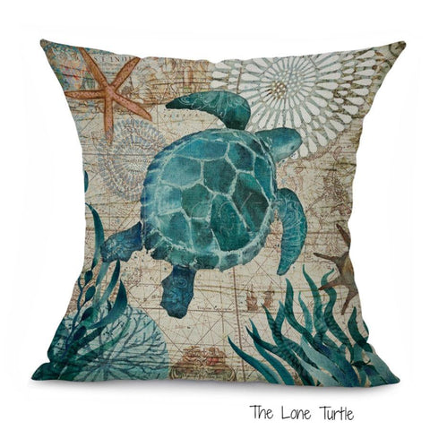 Cushion Covers With Beautiful Marine Creature Designs