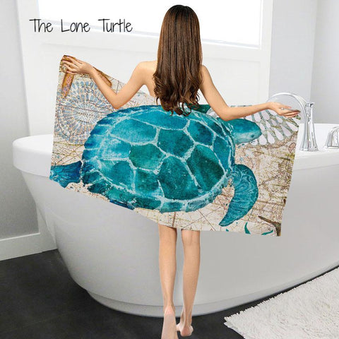 Microfiber Bath & Hand Towels With Beautiful Marine Creature Designs