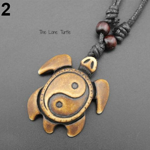 Cool Yin- Yang Turtle Necklace