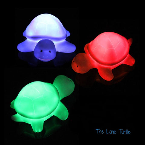 Ultra cute baby turtle LED night light. With alternating colors!