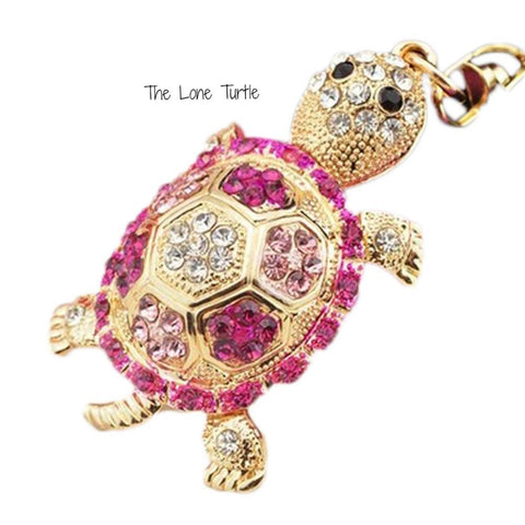 Gorgeous Crystal Turtle Keyring Choice of 4 colors