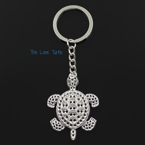 Silver Colored Turtle Keyring