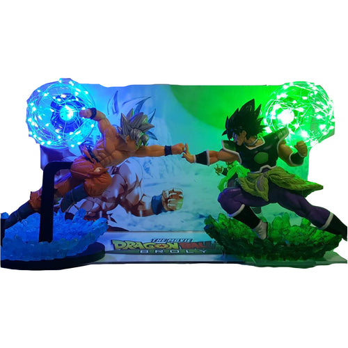Lampe de chevet de Son Goku Ultra Instinct VS New Broly