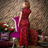 robe chinoise sexy rouge