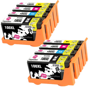 INK INSPIRATION® Replacement for Lexmark 100 100XL Ink Cartridges 8-Pack, Use with Lexmark S305 S402 S405 S505 S602 S605 S815 S816 Pro 202 205 208 209 705 805 901 905, Black/Cyan/Magenta/Yellow