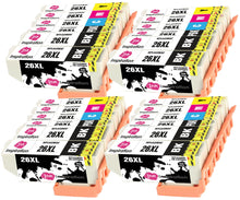 Laden Sie das Bild in den Galerie-Viewer, INK INSPIRATION® Replacement for Epson 26 26XL Ink Cartridges 24-Pack, Use with Epson Expression Premium XP-610 XP-620 XP-600 XP-700 XP-605 XP-615 XP-710 XP-520 XP-800 XP-625 XP-720 XP-820 XP-510