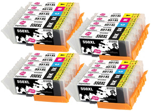 INK INSPIRATION® Replacement for Canon PGI-550XL CLI-551XL Ink Cartridges 20-Pack, Use with Canon Pixma iP7250 MX925 MG6350 MG5450 MG5550 MG5650 MG6450 MG6650 MG7150 MG7750 iX6850 iP8750 MX725