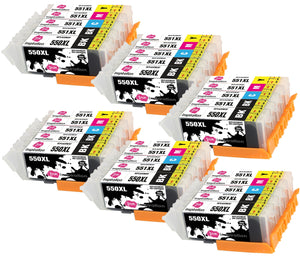 INK INSPIRATION® Replacement for Canon PGI-550XL CLI-551XL Ink Cartridges 30-Pack, Use with Canon Pixma iP7250 MX925 MG6350 MG5450 MG5550 MG5650 MG6450 MG6650 MG7150 MG7750 iX6850 iP8750 MX725