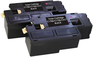 Ink Inspiration 2 BLACK Compatible Laser Toner Cartridges for Epson AcuLaser C1750N C1750W CX17NF CX17WF C1700 C1750 CX17 | 2,000 Pages - ink-inspiration