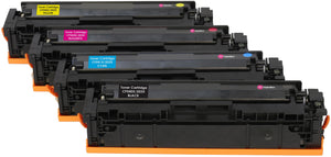 Ink Inspiration Set of 4   Compatible Laser Toner Cartridges for HP LaserJet Pro M254dw M254nw MFP M280nw M281fdn M281fdw | Replacement for HP 203X CF540X 3,200 Pages CF541X CF542X CF543X 2,500 Pages - ink-inspiration