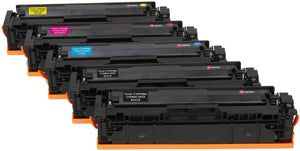 Ink Inspiration 5 (1 Set + 1 Black)   Compatible Toner Cartridges for HP LaserJet Pro M254dw M254nw M280nw M281fdn M281fdw | Replacement for HP 203X CF540X 3,200 Pages CF541X CF542X CF543X 2,500 Pages - ink-inspiration