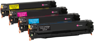 Ink Inspiration Set of 4 Compatible Laser Toner Cartridges for HP LaserJet Pro 200 M251n M251nw MFP M276n MFP M276nw Canon LBP7100CN LBP7110CW | Print Yield: 2400 Pages (Black) & 1800 Pages (Colours) - ink-inspiration
