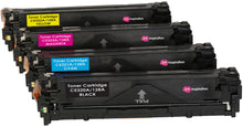 Laden Sie das Bild in den Galerie-Viewer, Ink Inspiration Set of 4  Compatible Laser Toner Cartridges for HP Laserjet Pro CM1415FN CM1415FNW CP1525 CP1525N CP1525NW | Replacement for HP 128A CE320A 2,200 Pages CE321A CE322A CE323A 1,400 Pages - ink-inspiration