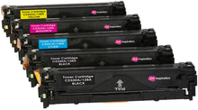 Laden Sie das Bild in den Galerie-Viewer, Ink Inspiration 5 (Set + Black)  Compatible Laser Toner Cartridges for HP Laserjet Pro CM1415FN CM1415FNW CP1525N CP1525NW | Replacement for HP 128A CE320A 2200 Pages CE321A CE322A CE323A 1400 Pages - ink-inspiration