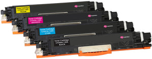 Ink Inspiration Set of 4 Compatible Laser Toner Cartridges for HP Colour LaserJet Pro MFP M176n M177fw | Replacement for HP 130A CF350A 1,300 Pages CF351A CF352A CF353A 1,000 Pages - ink-inspiration