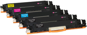Ink Inspiration 5 (1 Set + 1 Black) Compatible Laser Toner Cartridges for HP Colour LaserJet Pro MFP M176n M177fw | Replacement for HP 130A CF350A 1,300 Pages CF351A CF352A CF353A 1,000 Pages - ink-inspiration