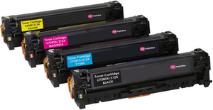 Ink Inspiration Set of 4 Compatible Laser Toner Cartridges for HP LaserJet Pro Color MFP M476dn M476dw M476nw | Replacement for HP 312X CF380X 4,400 Pages 312A CF381A CF382A CF383A 2,700 Pages - ink-inspiration