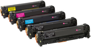 Ink Inspiration 5 (Set + Black) Compatible Laser Toner Cartridges for HP LaserJet Pro Color MFP M476dn M476dw M476nw | Replacement for HP 312X CF380X 4,400 Pages 312A CF381A CF382A CF383A 2,700 Pages - ink-inspiration