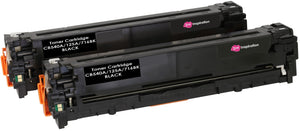 Ink Inspiration 2  Black Compatible Laser Toner Cartridges for HP Laserjet CM1312 CM1312nf CM1312nfi CP1215 CP1217 CP1514n CP1515n CP1518ni | Replacement for HP 125A CB540A | 2,200 Pages - ink-inspiration