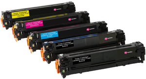 Ink Inspiration 5 (Set + Black)  Compatible Laser Toner Cartridges for HP Laserjet CM1312 CM1312nfi CP1514n CP1515n CP1518ni | Replacement for HP 125A CB540A 2200 Pages CB541A CB542A CB543A 1400 Pages - ink-inspiration