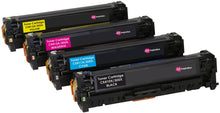 Load image into Gallery viewer, Ink Inspiration Set of 4   Compatible Laser Toner Cartridges for HP LaserJet Pro M351a M375nw M451dn M451dw M451nw M475dn M475dw | Replacement for HP CE410X 4,000 Pages CE411A CE412A CE413A 2,600 Pages - ink-inspiration