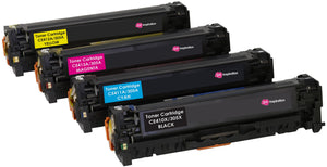 Ink Inspiration Set of 4   Compatible Laser Toner Cartridges for HP LaserJet Pro M351a M375nw M451dn M451dw M451nw M475dn M475dw | Replacement for HP CE410X 4,000 Pages CE411A CE412A CE413A 2,600 Pages - ink-inspiration