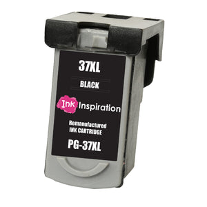 INK INSPIRATION® BLACK Remanufactured Ink Cartridge for Canon PG-37 PG37 Pixma MP210 MP220 MX310 MX300 MP140 MP190 MP470 iP1800 iP1900 iP2500 iP2600 | High Capacity