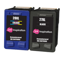 Load image into Gallery viewer, INK INSPIRATION® 2 Remanufactured Ink Cartridges Replacement for HP 27 28 Deskjet 3320 3325 3420 3520 3535 3550 3620 3650 5650 5850 Fax 1240 PSC 1110 1205 1210 1215 1315 1317 Officejet 4215