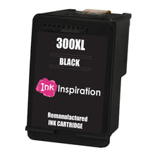 Load image into Gallery viewer, INK INSPIRATION® BLACK Remanufactured Ink Cartridge Replacement for HP 300 300XL Deskjet D1660 D2530 D2545 D2560 D2660 D5560 F2420 F2480 F4210 F4240 F4272 F4280 F4580 F4583 Photosmart C4780 C4680