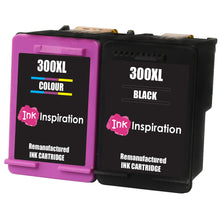 Load image into Gallery viewer, INK INSPIRATION® 2 Remanufactured Ink Cartridges Replacement for HP 300 300XL Deskjet D1660 D2530 D2545 D2560 D2660 D5560 F2420 F2480 F4210 F4240 F4272 F4280 F4580 F4583 Photosmart C4780 C4680