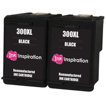 Load image into Gallery viewer, INK INSPIRATION® 2 BLACK Remanufactured Ink Cartridges Replacement for HP 300 300XL Deskjet D1660 D2530 D2545 D2560 D2660 D5560 F2420 F2480 F4210 F4240 F4272 F4280 F4580 F4583 Photosmart C4780 C4680