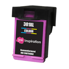 Laden Sie das Bild in den Galerie-Viewer, INK INSPIRATION® TRI-COLOUR Remanufactured Ink Cartridge Replacement for HP 301 301XL DeskJet 1000 1050 1050A 1055 2000 2050 2050A 2054A 2510 2540 3000 3050 3050A 3050SE 3050VE 3052A 3054A 3055A