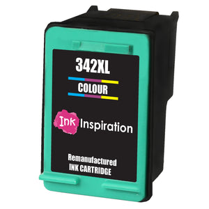 INK INSPIRATION® TRI-COLOUR Remanufactured Ink Cartridge Replacement for HP 342 Photosmart 2570 2575 2710 8150 C3180 C4180 D5160 DeskJet 5440 6310 Officejet 6315 PSC 1510 | High Capacity