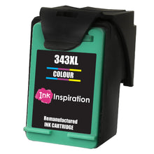 Load image into Gallery viewer, INK INSPIRATION® TRI-COLOUR Remanufactured Ink Cartridge Replacement for HP 343 Photosmart 2500 2570 2573 2575 C4140 C4150 C4180 C4190 D5160 8049 Officejet 6300 6310 6315 Deskjet D4160 5940