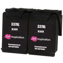 Load image into Gallery viewer, INK INSPIRATION® 2 BLACK Remanufactured Ink Cartridges Replacement for HP 337 Photosmart 2500 2570 2573 2575 C4140 C4150 C4180 C4190 D5160 8049 Officejet 6300 6310 6315 Deskjet D4160 5940