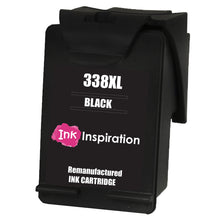 Cargar imagen en el visor de la galería, INK INSPIRATION® BLACK Remanufactured Ink Cartridge Replacement for HP 338 Photosmart 2575 2610 2710 8150 8450 8750 C3180 DeskJet 460c 6540 6620 9800 PSC 1610 2355 Officejet 100 150 6210 H470