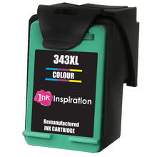 Cargar imagen en el visor de la galería, INK INSPIRATION® TRI-COLOUR Remanufactured Ink Cartridge Replacement for HP 343 Photosmart 2575 2610 2710 8150 8450 8750 C3180 DeskJet 460c 6540 6620 9800 PSC 1610 2355 Officejet 100 150 6210 H470