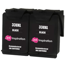 Cargar imagen en el visor de la galería, INK INSPIRATION® 2 BLACK Remanufactured Ink Cartridges Replacement for HP 338 Photosmart 2575 2610 2710 8150 8450 8750 C3180 DeskJet 460c 6540 6620 9800 PSC 1610 2355 Officejet 100 150 6210 H470