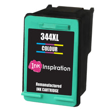 Load image into Gallery viewer, INK INSPIRATION® TRI-COLOUR Remanufactured Ink Cartridge Replacement for HP 344 DeskJet 5740 5745 5940 6540 6620 6840 6980 9800 Photosmart 2570 2573 2575 2605 2610 2710 8050 8150 8450 8750