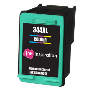 INK INSPIRATION® TRI-COLOUR Remanufactured Ink Cartridge Replacement for HP 344 DeskJet 5740 5745 5940 6540 6620 6840 6980 9800 Photosmart 2570 2573 2575 2605 2610 2710 8050 8150 8450 8750