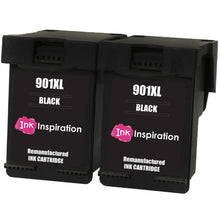 Load image into Gallery viewer, INK INSPIRATION® 2 BLACK Remanufactured Ink Cartridges Replacement for HP 901 901XL OfficeJet 4500 G510a G510g G510n J4500 J4524 J4535 J4540 J4550 J4580 J4585 J4600 J4624 J4640 J4660 J4680 J4680c