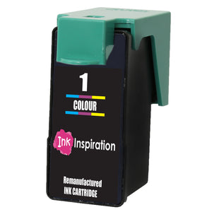 INK INSPIRATION® TRI-COLOUR Remanufactured for Lexmark No. 1 Ink Cartridge compatible with Lexmark X2300 X2310 X2315 X2320 X2330 X2340 X2350 X2360 X2390 X2450 X2470 X2480 X3450 X3470 Z730 Z735